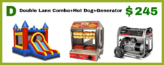 Double Lane Combo + Hot Dog Machine + Generator